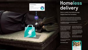 Deliveroo Homeless Delivery
